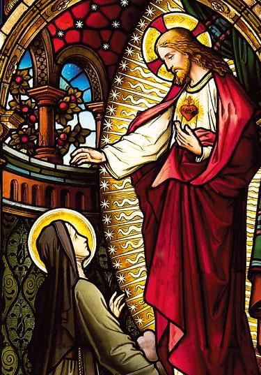 Sacro Cuore con Santa Margarita